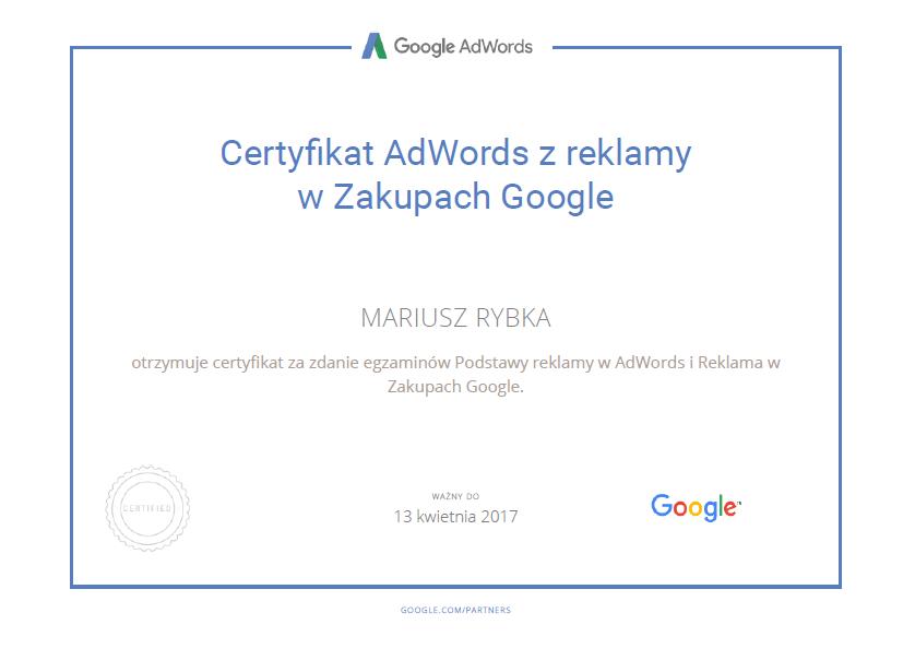 certyfikat-mariusz-google-shopping