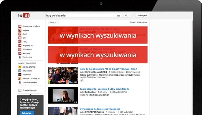 Reklama TrueView In-Display w wyszukiwarce