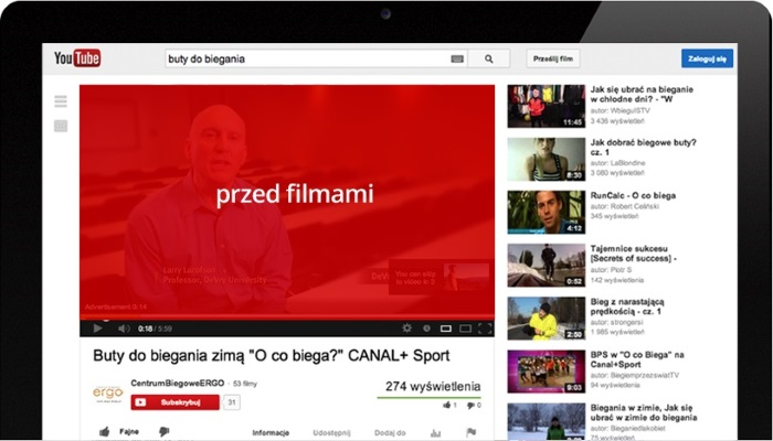 Reklama YouTube TrueView In-Stream