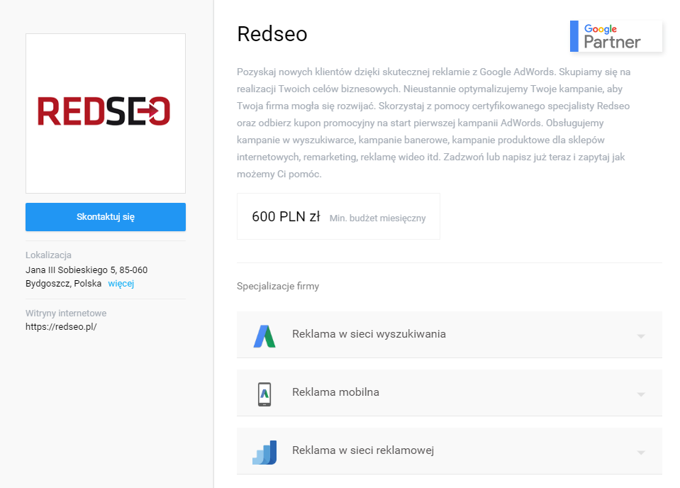 Google Partners - Redseo