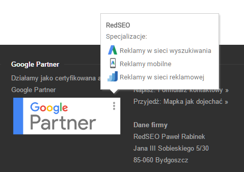 Google Partners - Redseo badge