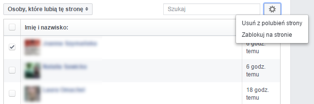 Usuwanie/blokowanie użytkowników