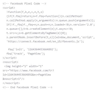 Kod piksela do wdrożenia w witrynie