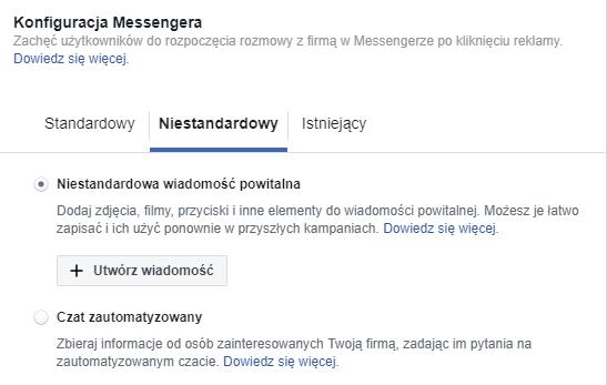 Konfiguracja Messengera