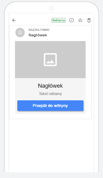 otwarta reklama discovery ma Gmailu